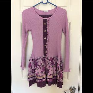 Girls Purple Naartjie Dress and leggings set